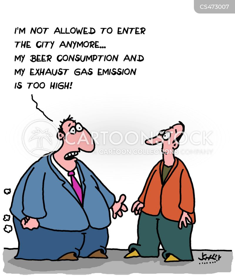 exhaust fume cartoon