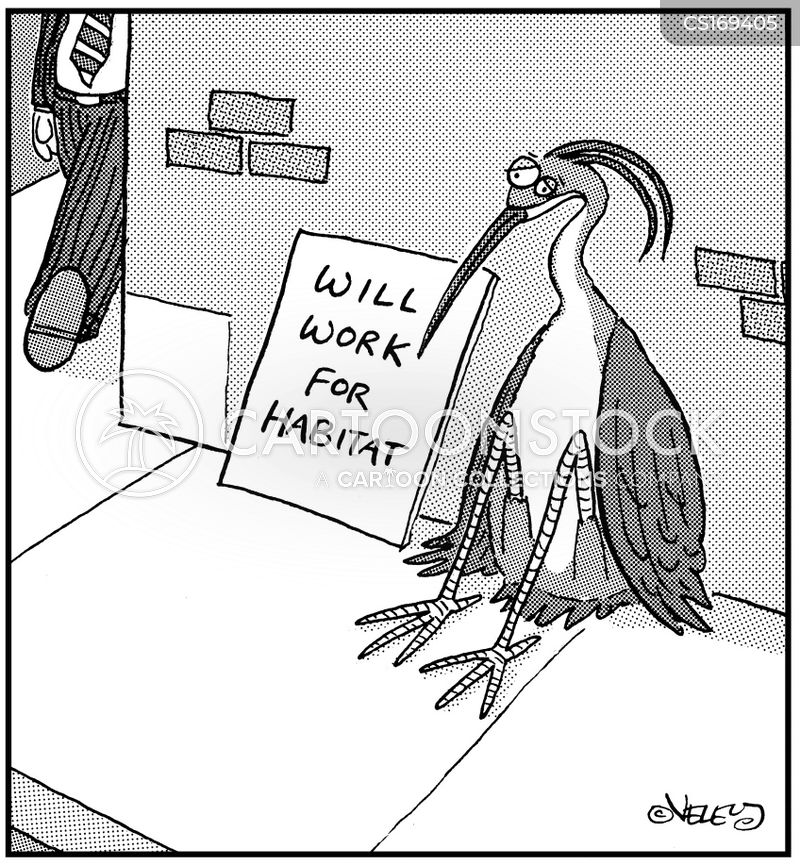 habitat loss cartoon