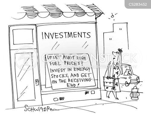 energy stock cartoon