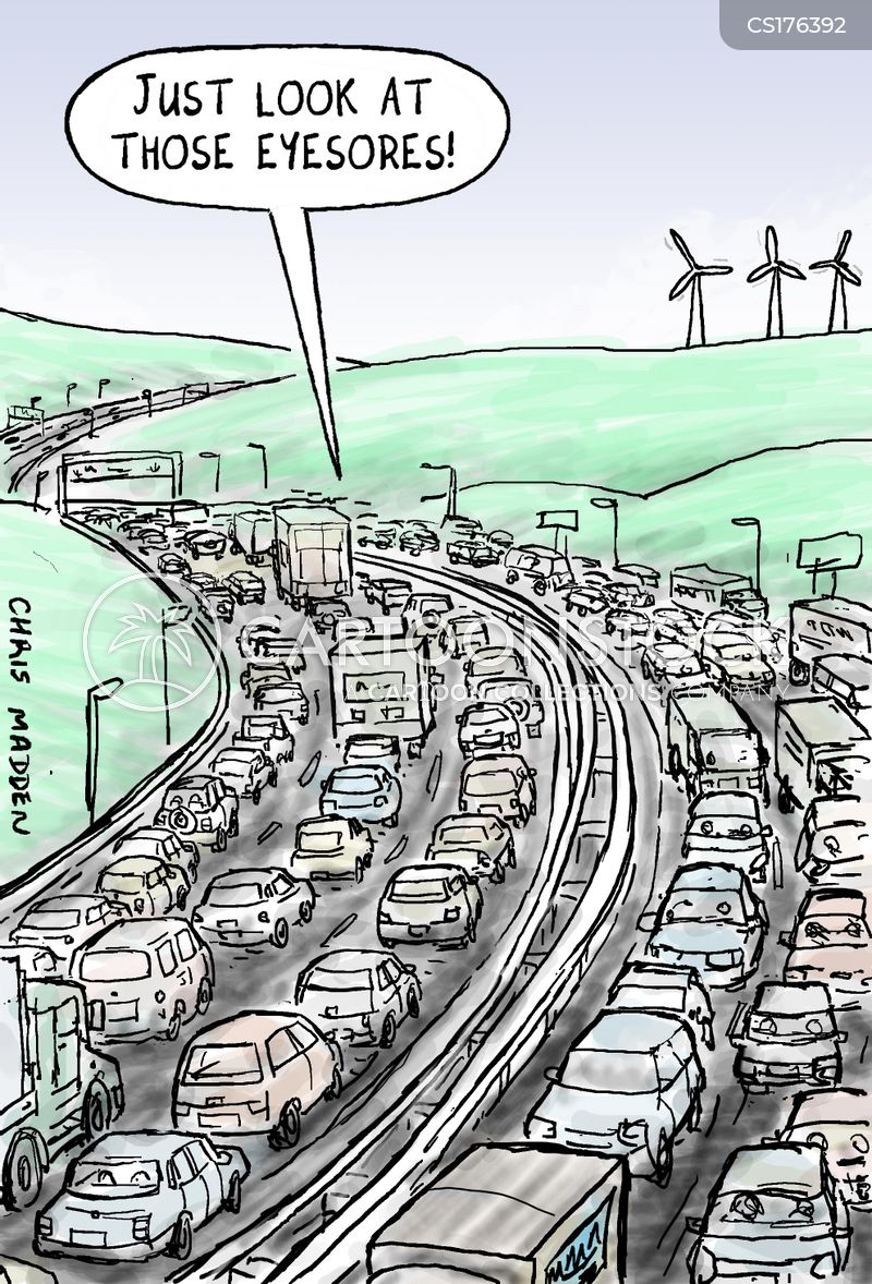 wind turbine cartoon