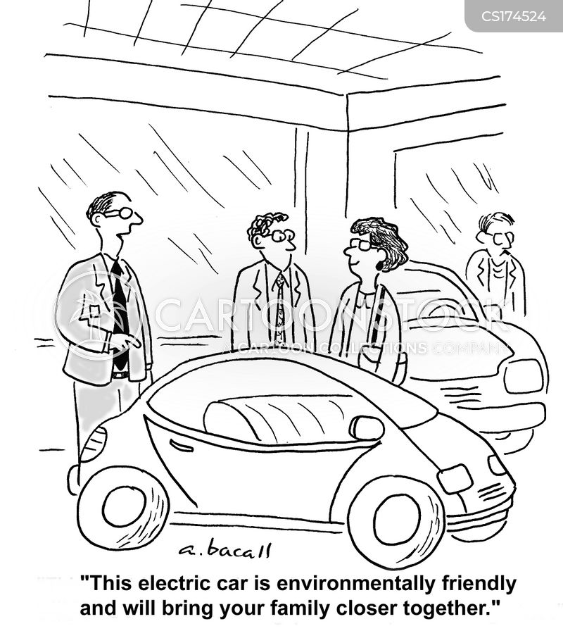 Electric Car Cartoons And Comics Funny Pictures From Cartoonstock