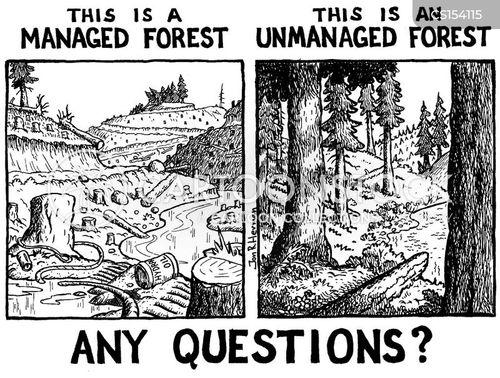 cut down trees cartoon