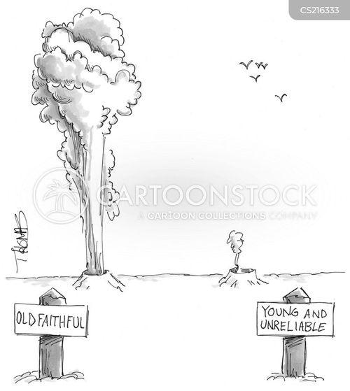 yellowstone park cartoon
