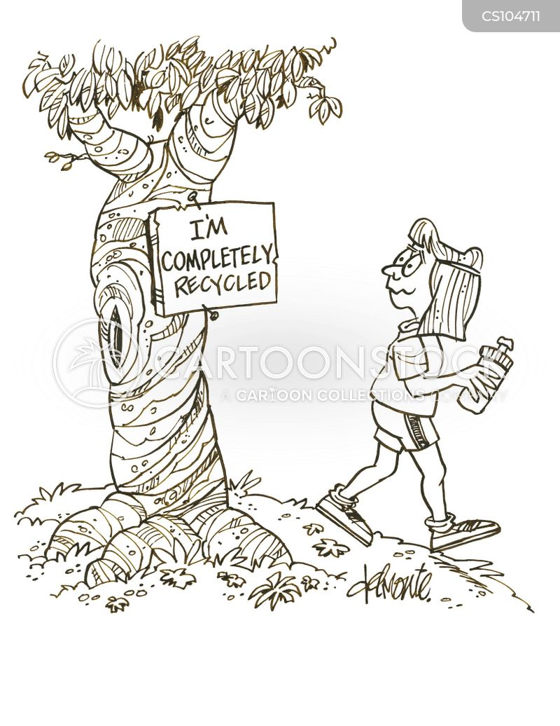 saving trees cartoon