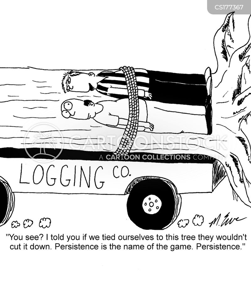logging cartoon