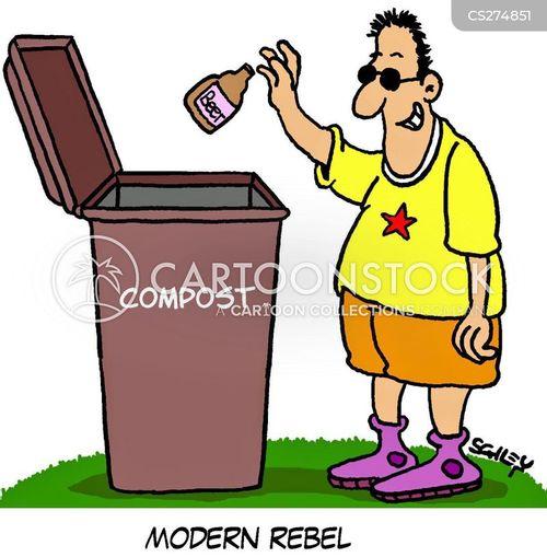 compost bin cartoon