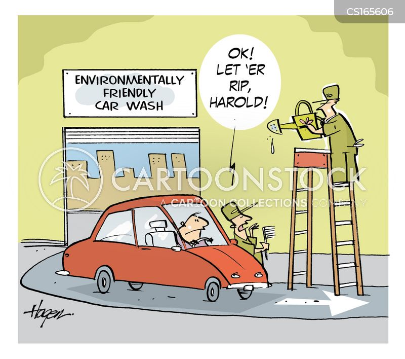 car-wash cartoon