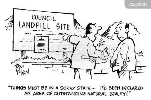 rubbish tips cartoon