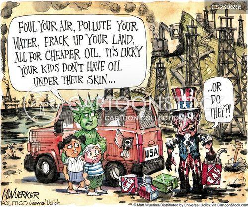 fracking cartoon