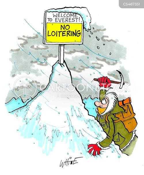 mountain ranges cartoon