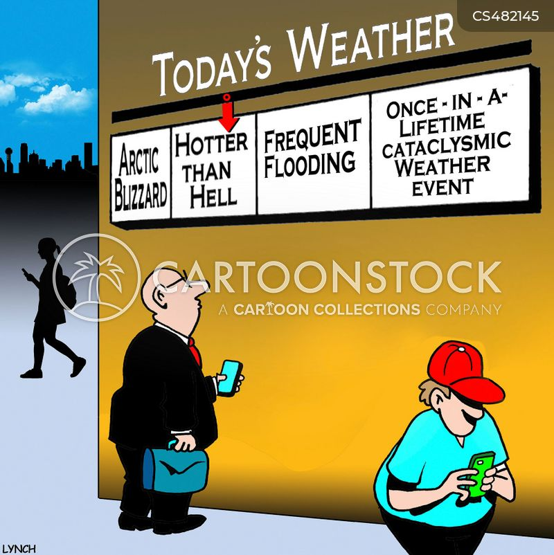 extreme weather conditions cartoon