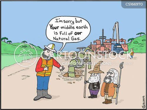 oil shale cartoon