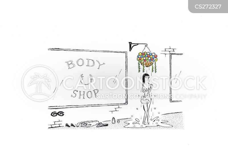 body shop cartoon
