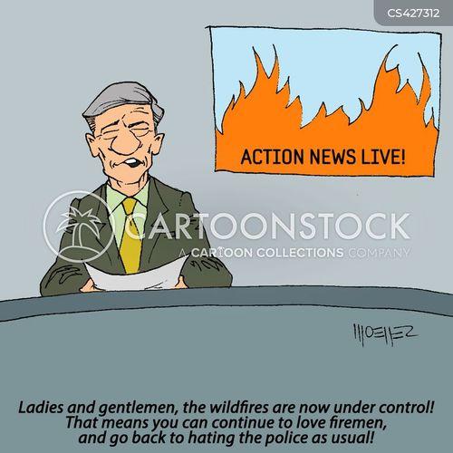 wild fire cartoon