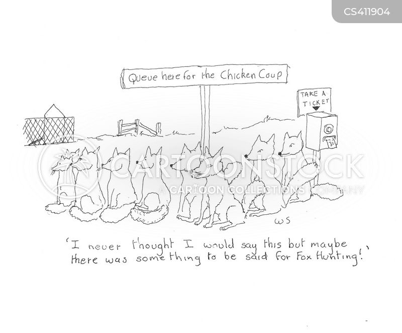 chicken coups cartoon