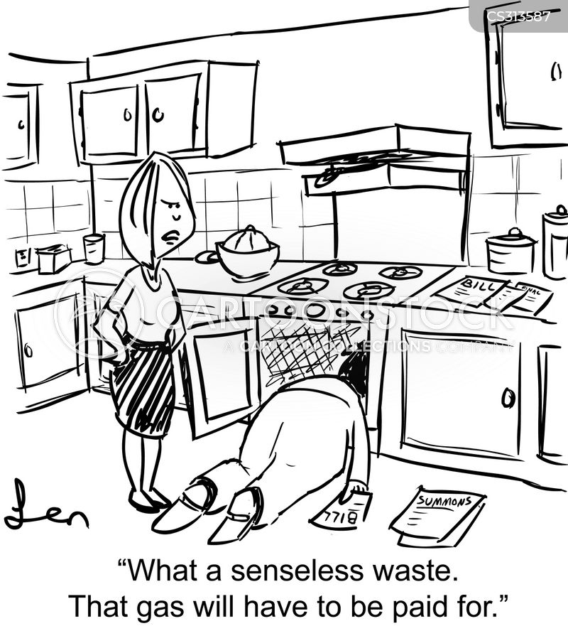 gas ovens cartoon