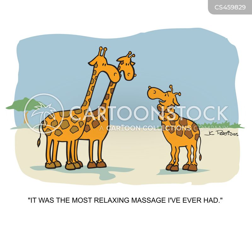 massage therapy cartoon