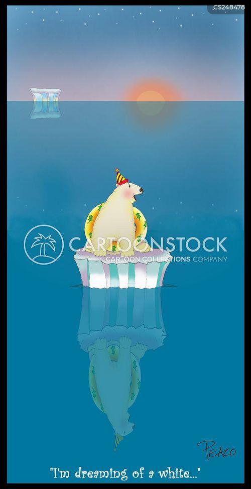 polar icecaps cartoon
