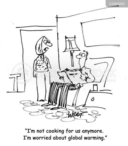 environmental worry cartoon
