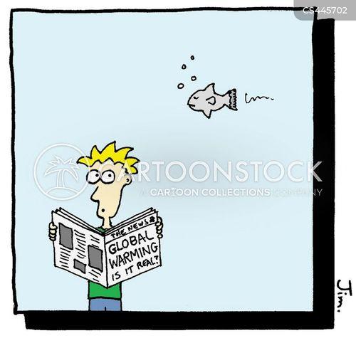 newspaper headline cartoon