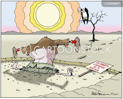 climate change deniers cartoon