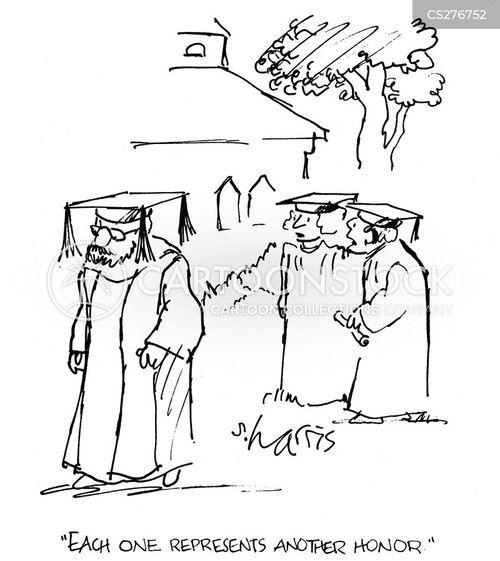 mortarboards cartoon