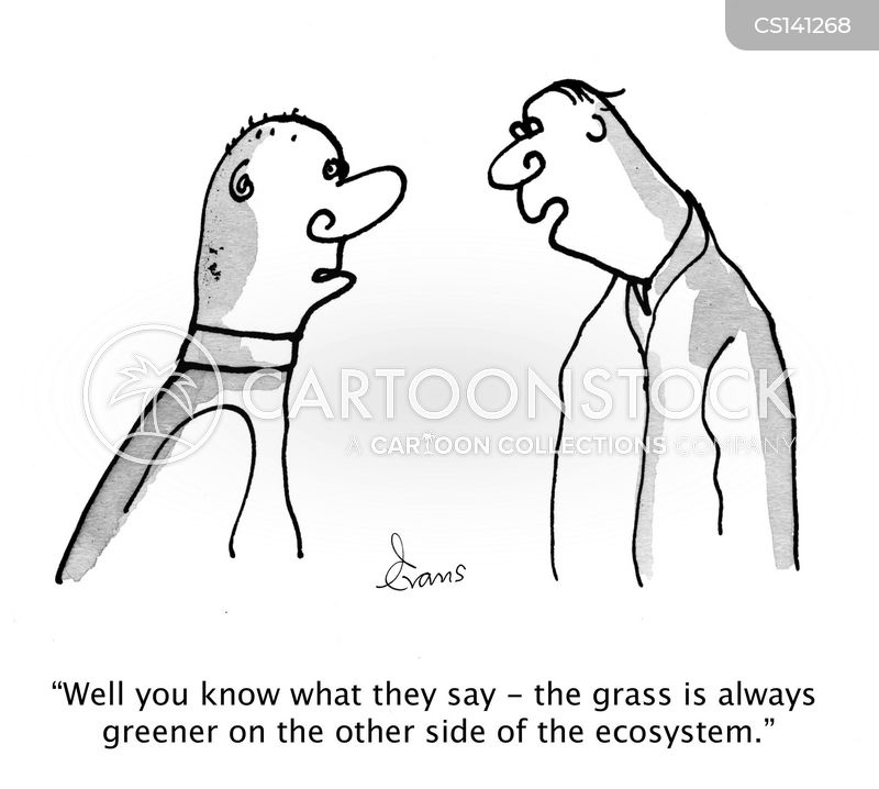 the grass is greener cartoon