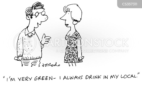 green lifestyle cartoon