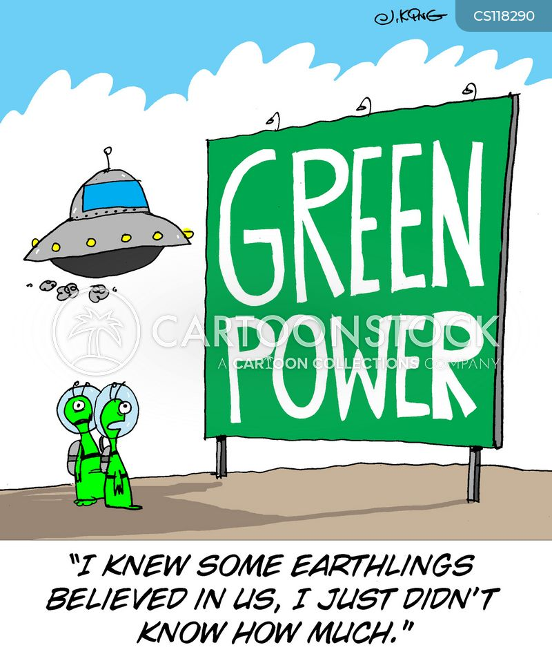 green power cartoon
