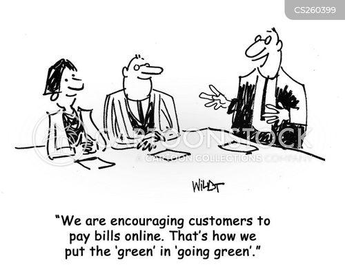 eco company cartoon