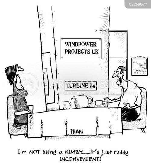 wind power project cartoon