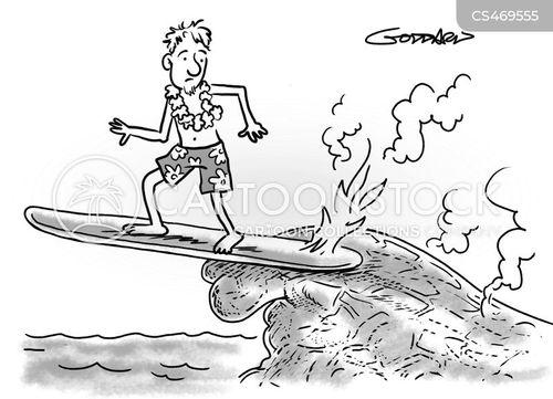 volcanic cartoon