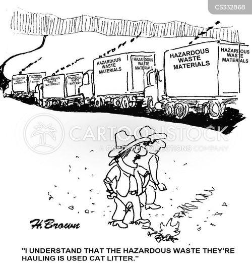 hazardous materials cartoon
