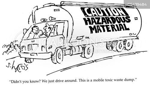 hazardous waste cartoon