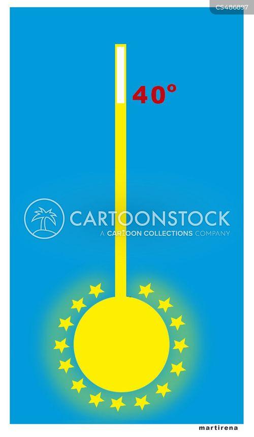 high temperature cartoon