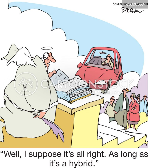 electrical car cartoon