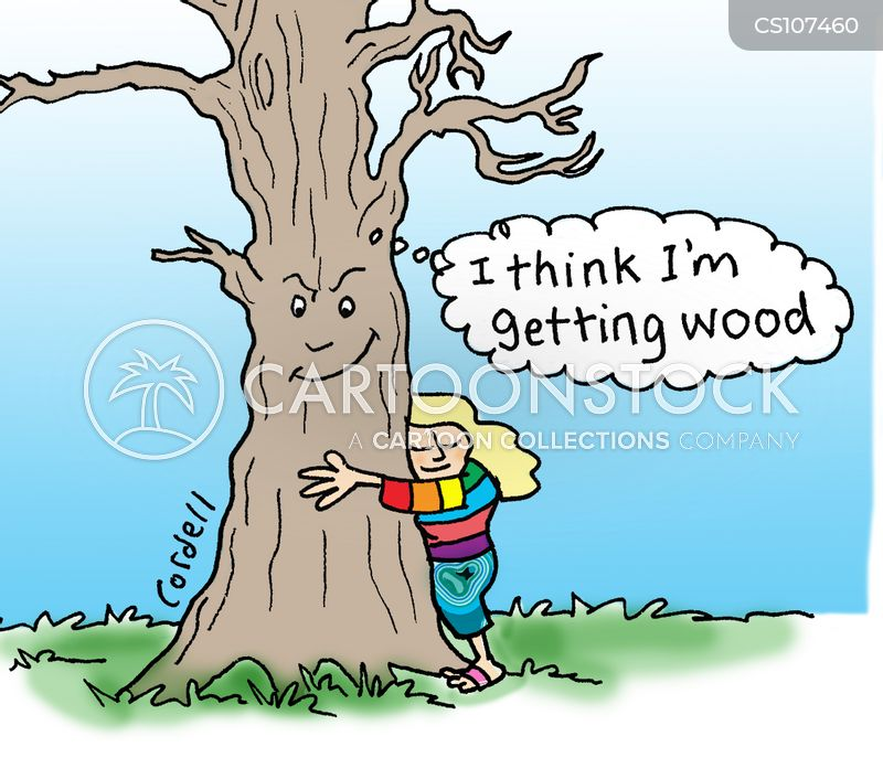 tree-huggers cartoon