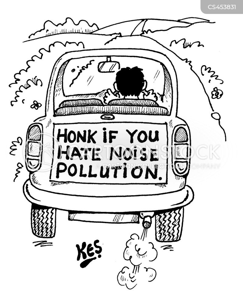 noise pollutants cartoon