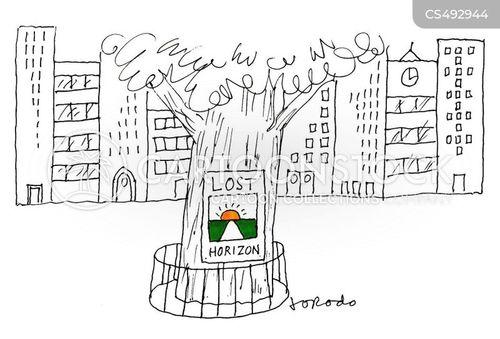rural landscapes cartoon