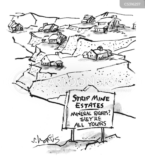 strip mines cartoon