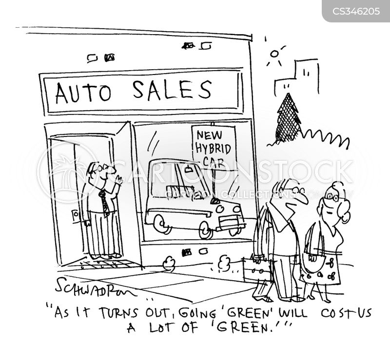car shoppers cartoon