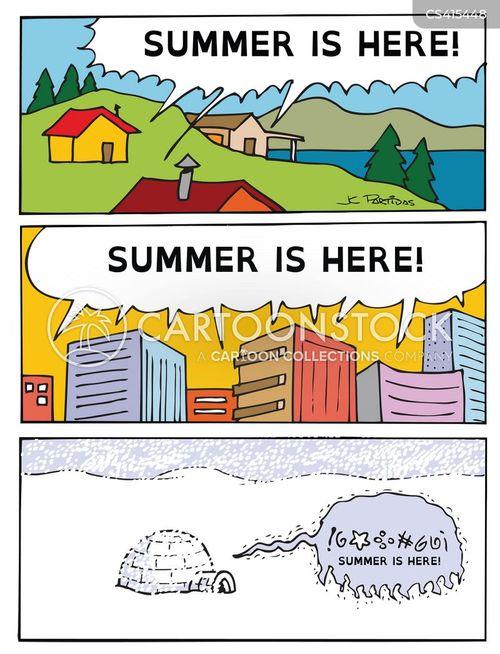 summer times cartoon