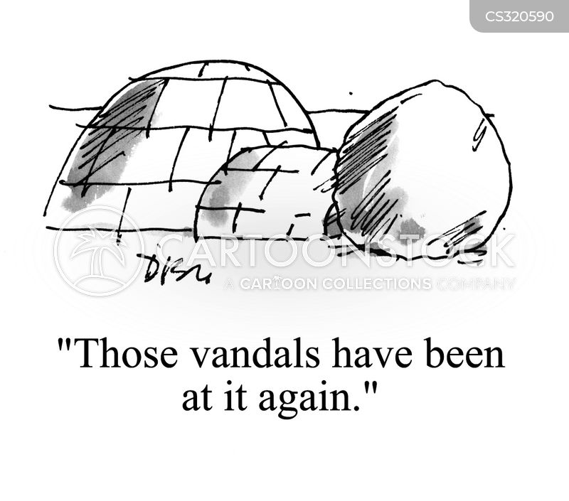 vandalise cartoon