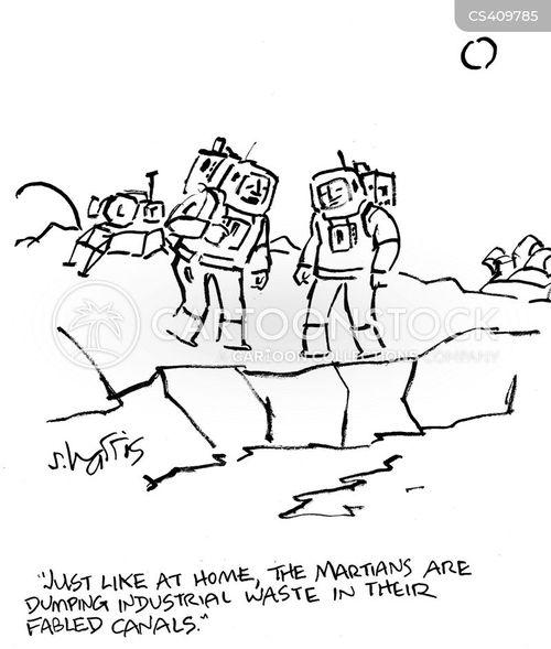 pollutions cartoon