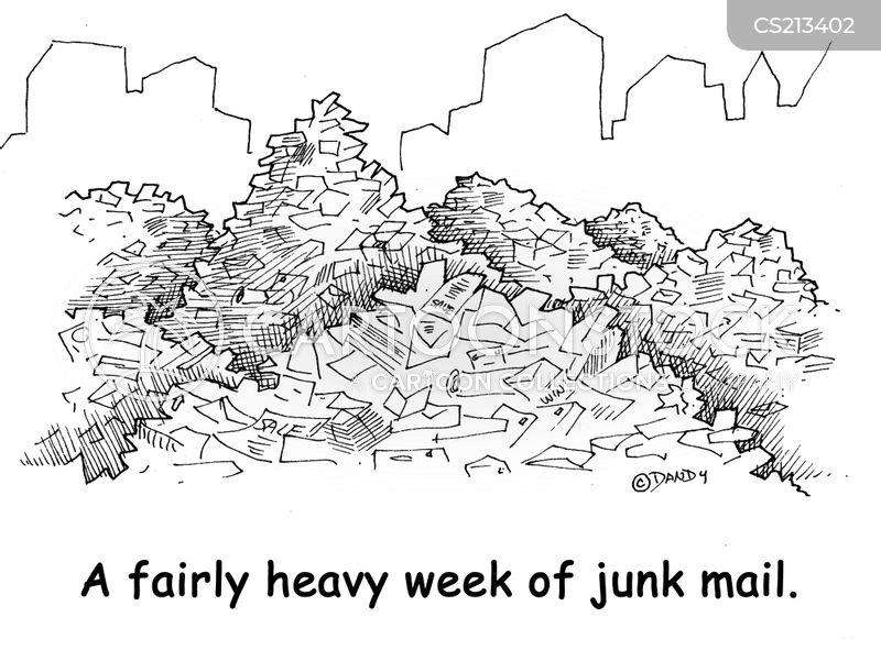 mail delivery cartoon