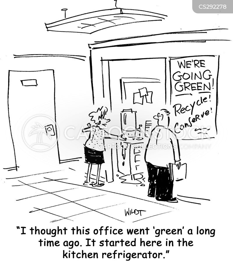 office cleaners cartoon