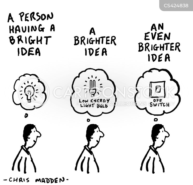 A Person Having Bright Idea Brighter An Even