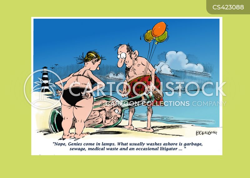 beach combers cartoon