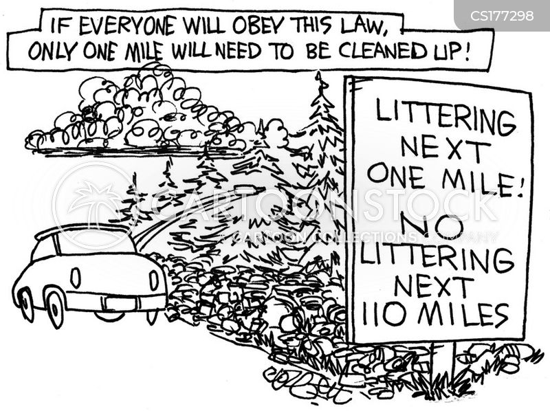 littering cartoon