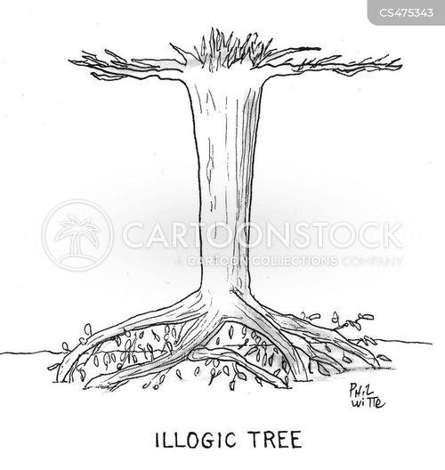 tree branches cartoon